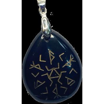 Кулон-амулет  для защиты от магического воздействия черный