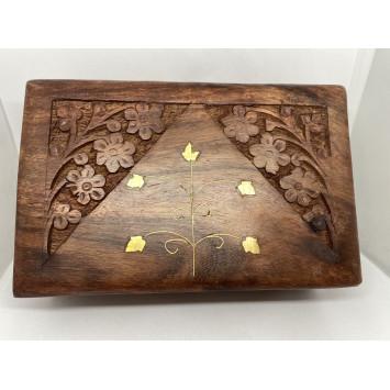 Шкатулка для карт таро (цвет - красное дерево)