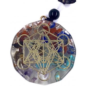 Кулон оргонный для чакральных медитаций Куб Метатрона