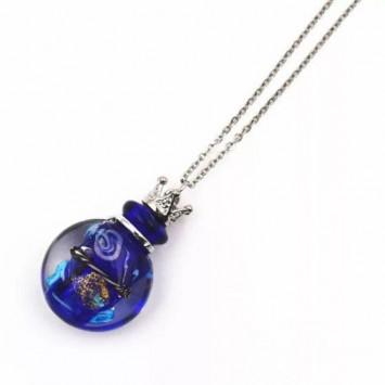 Флакончик из стекла для аромамасел и духов, синий