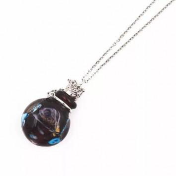 Флакончик из стекла для аромамасел и духов, фиолетовый