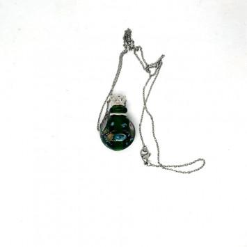 Флакончик из стекла для аромамасел и духов, зеленый