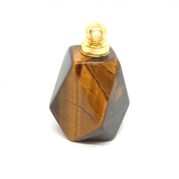 Флакончик из камня для аромамасел и духов,тигровый глаз