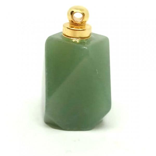 Флакончик из камня для аромамасел и духов, зеленый авантюрин