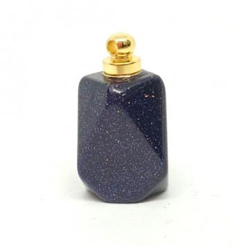 Флакончик из камня для аромамасел и духов, синий песчаный камень