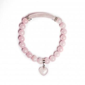 Браслет Розовый кварц для привлечения любви  05