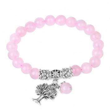 Браслет Розовый кварц для привлечения любви 09