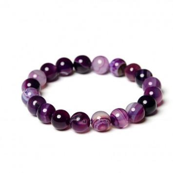 Браслет фиолетовый агат для удачи в бизнесе и торговле