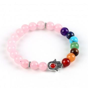 Браслет Розовый кварц для раскрытия женского потенциала, повышения энергетики, равновесия и силы