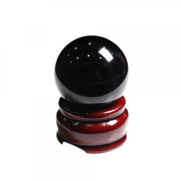 Натуральный шар  из обсидианта на подставке,диаметр 40 мм