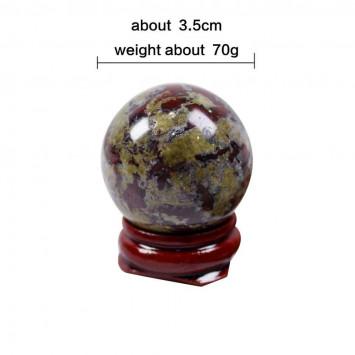 Натуральный шар  на подставке Кровь дракона, диаметр 35 мм