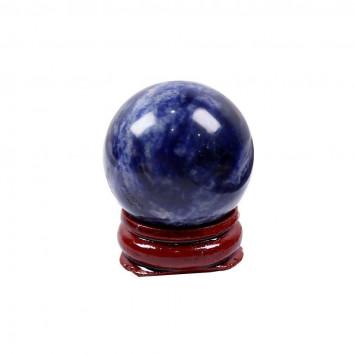 Натуральный шар  из содалита на подставке,диаметр 30 мм