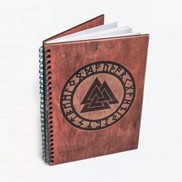 Книга для записи формул и ритуалов светло красное дерево