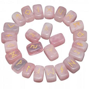 Рунический комплект - Розовый кварц.