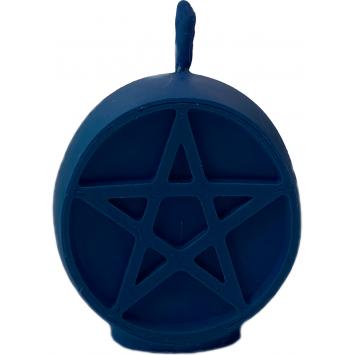 Свеча пентаграмма синяя Разум и чувства