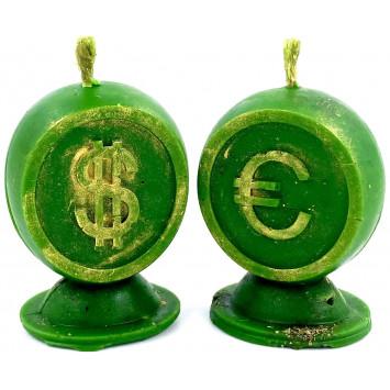 """Комплект свечей для привлечения денег """"Хочу доллары и евро"""""""