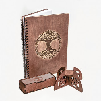Комплект для рунических практик в коричневом цвете