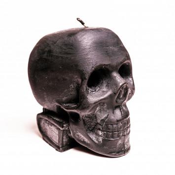 Свеча Череп черный