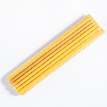 Набор желтых восковых свечей 25 штук