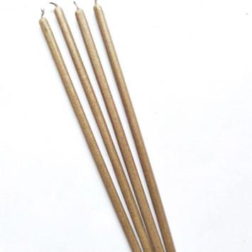 Свеча золотая восковая 21 см