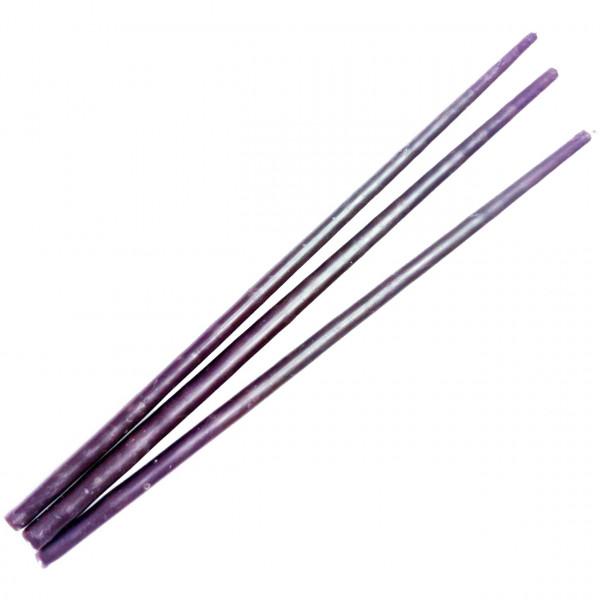 Свеча фиолетовая восковая 25 см