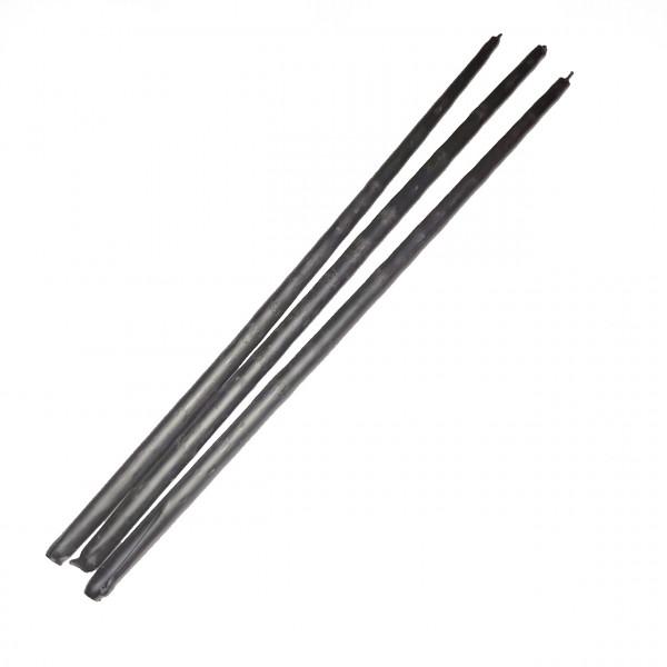 Набор черных восковых свечей, 25 см (10 шт/уп)