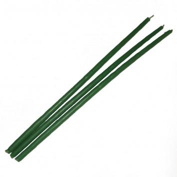 Набор зеленых восковых свечей, 25 см (10 шт/уп)
