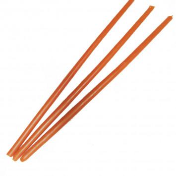 Набор оранжевых восковых свечей, 25 см (10 шт/уп)