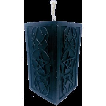 Свеча-алтарная черная с пентаграммой