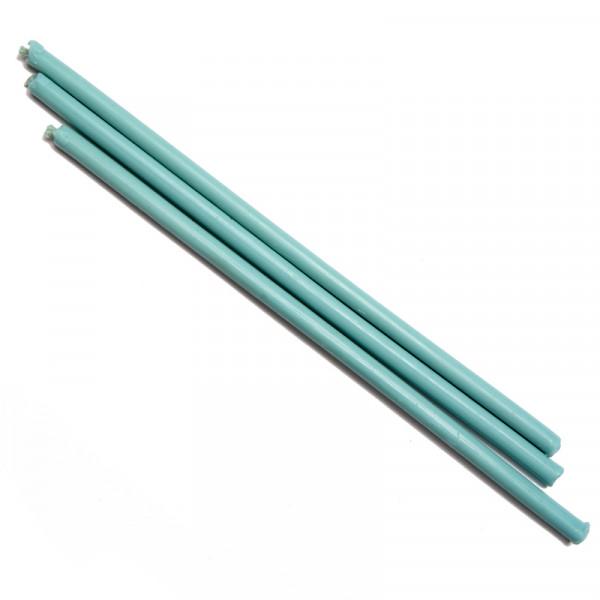 Свеча восковая голубая, время горения 1 час