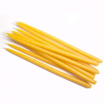 Свеча маканая восковая желтая, комплект 10 штук
