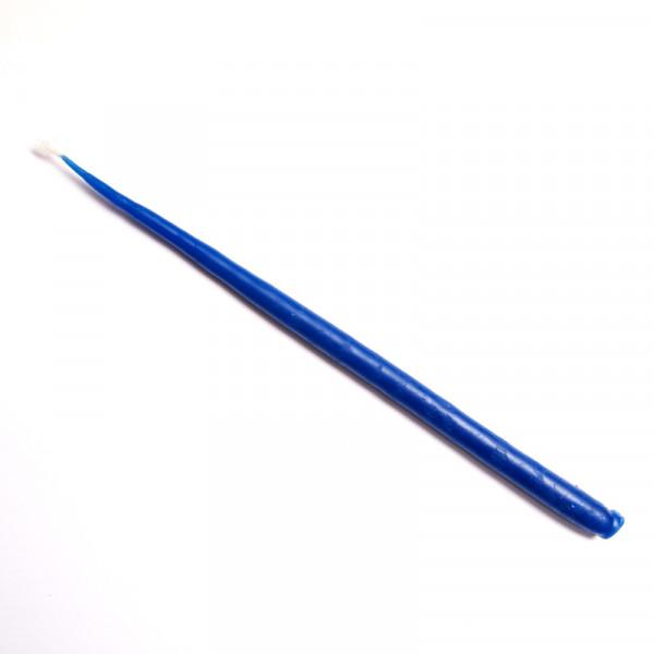 Свеча маканая восковая синяя