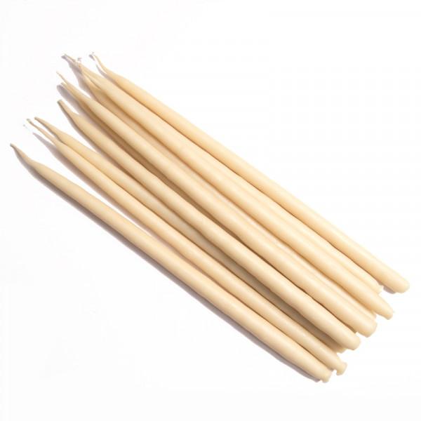 Свеча маканая восковая белая, комплект 10 штук
