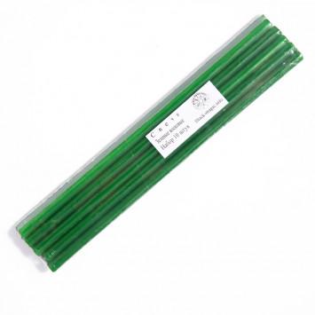 Набор зеленых восковых свечей 10 штук